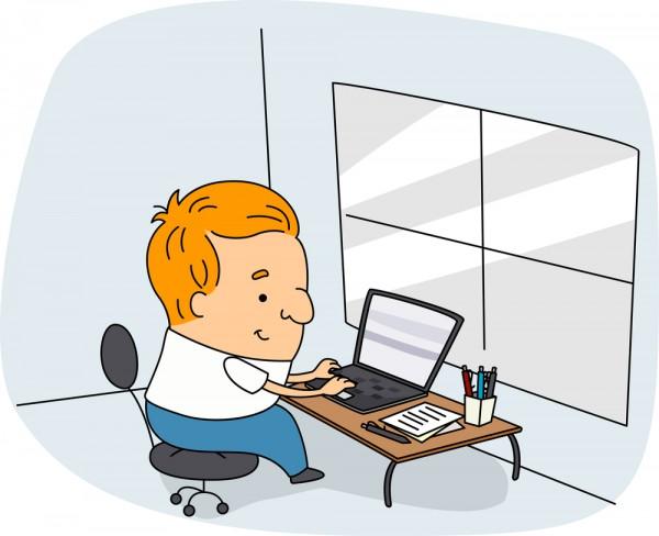 Blogger-Cartoon